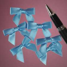 Blue Satin Bow: click to enlarge