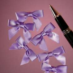 Purple Satin Bow: click to enlarge