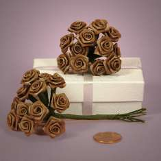 Bouquet of Chocolate Ribbon Roses: click to enlarge