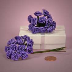 Bouquet of Violet Ribbon Roses: click to enlarge