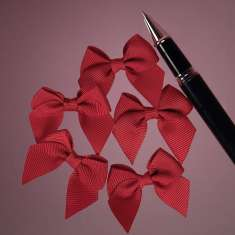 Red Grosgrain Butterfly Bow: click to enlarge