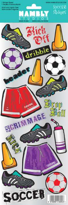 Soccer Mylar Stickers: click to enlarge