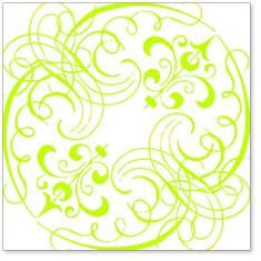 Lime Swashes & Swirls: click to enlarge