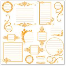 Orange Journaling Bits: click to enlarge