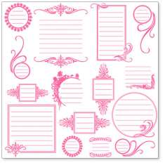 Pink Journaling Bits: click to enlarge