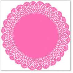 Pink Antique Doily: click to enlarge
