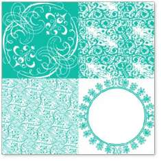 Teal Vintage Patchwork: click to enlarge