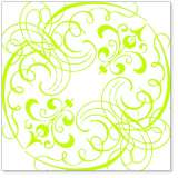 Lime Swashes & Swirls
