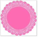 Pink Antique Doily